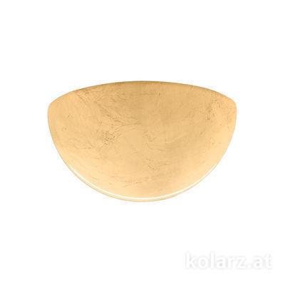 588.66.Au Gold, Width 23cm, Height 11cm, 1 light, E27