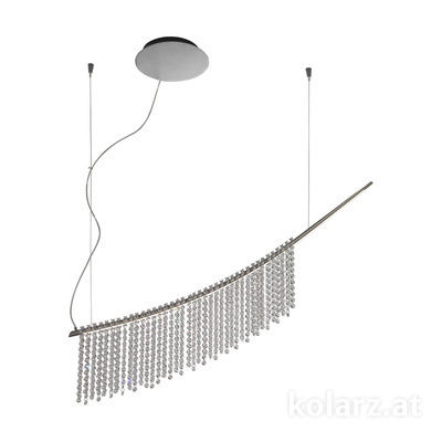 6002.30159.140 Dark chrom, Length 120cm, Height 225cm, Min. height 25cm, 1 light, LED dimmable