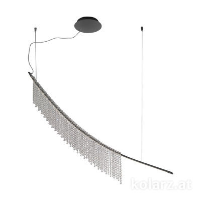 6002.30259.140 Dark chrom, Length 160cm, Height 225cm, Min. height 25cm, 1 light, LED dimmable