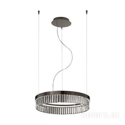6003.30159.240 Schwarz-Chrom, Ø60cm, Min. height 11cm, 1 light, LED