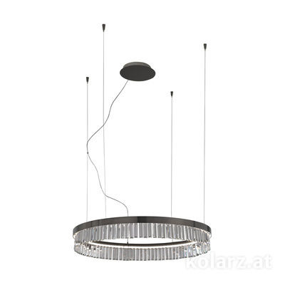 6003.30259.240 Schwarz-Chrom, Ø90cm, Height 13cm, Max. height 213cm, 1 light, LED