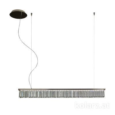 6003.30359.240 Schwarz-Chrom, Width 120cm, Min. height 11.5cm, Max. height 210cm, 1 light, LED