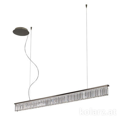 6003.30459.240 Schwarz-Chrom, Length 160cm, Height 11.5cm, Max. height 210cm, 1 light, LED