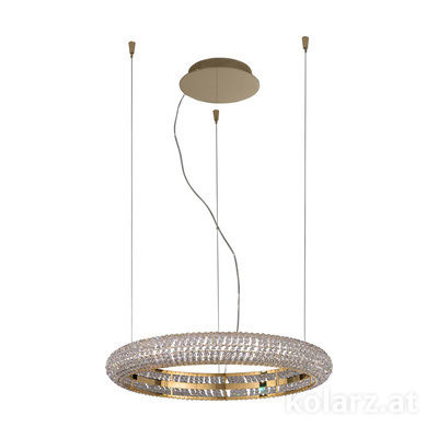 6004.30130.530 24 Carat Gold, Ø60cm, Height 210cm, Min. height 10cm, 1 light, LED dimmable