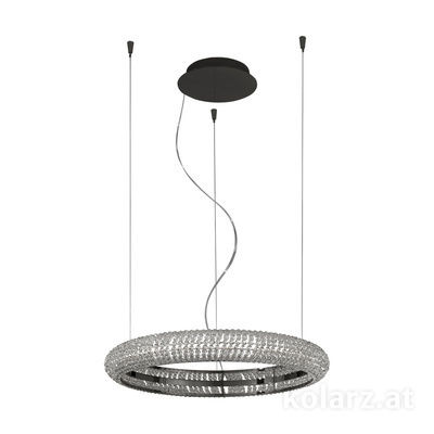 6004.30159.530 Dark chrom, Ø60cm, Height 210cm, Min. height 10cm, 1 light, LED dimmable