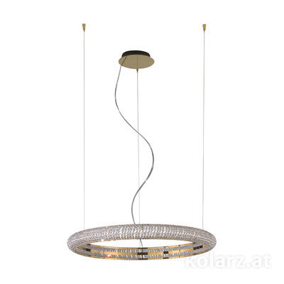 6004.30230.530 24 Carat Gold, Ø90cm, Height 210cm, Min. height 10cm, 1 light, LED dimmable