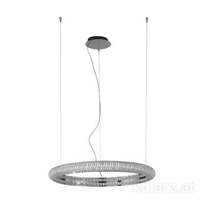 6004.30259.530 Dark chrom, Ø90cm, Height 210cm, Min. height 10cm, 1 light, LED dimmable