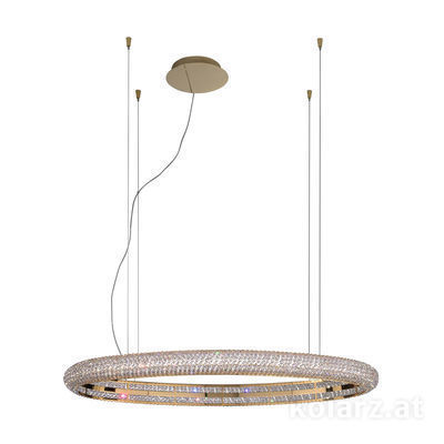 6004.30330.530 24 Carat Gold, Length 120cm, Width 60cm, Height 210cm, Min. height 10cm, 1 light, LED dimmable