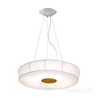 6006.30635 White, Ø100cm, Height 12cm, Max. height 200cm, 6 lights, E27
