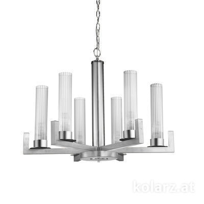 6009.80650 Silver Leaf, Ø70cm, Min. height 57.5cm, Max. height 165cm, 6 lights, E14
