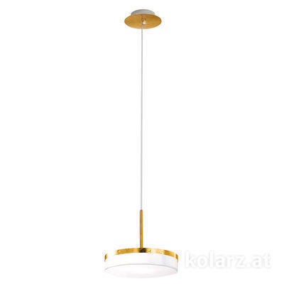 6020.30130 Gold Leaf, Ø23cm, Min. height 28.5cm, Max. height 278.5cm, 1 light, GX53