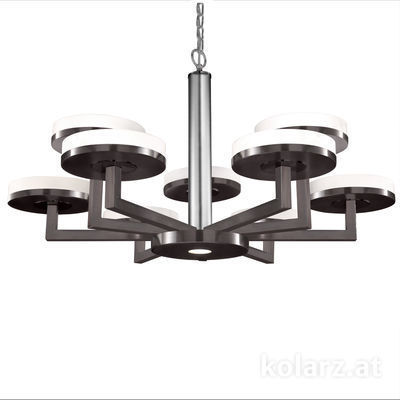 6020.81060 Brunito brushed, Ø100cm, Min. height 61cm, Max. height 154cm, 10 lights, GX53
