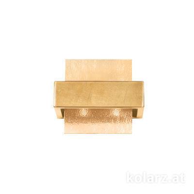 6040.60231/A Gold Leaf, Amber, Width 21cm, Height 17cm, 2 lights, G9