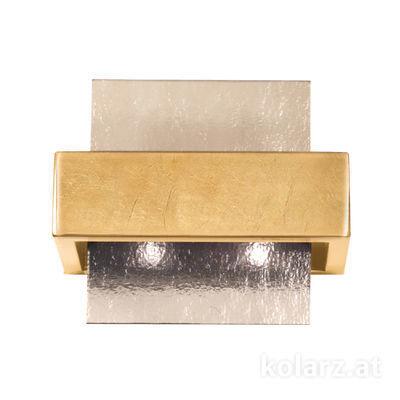 6040.60231/Fm Gold Leaf, Fumé, Width 21cm, Height 17cm, 2 lights, G9