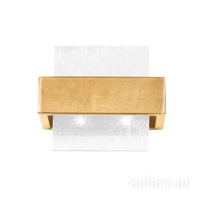 6040.60231/W Gold Leaf, White, Width 21cm, Height 17cm, 2 lights, G9