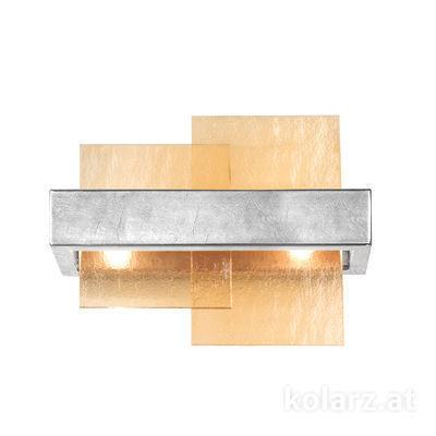 6040.60250/A Silver Leaf, Amber, Width 32cm, Height 24cm, 2 lights, G9