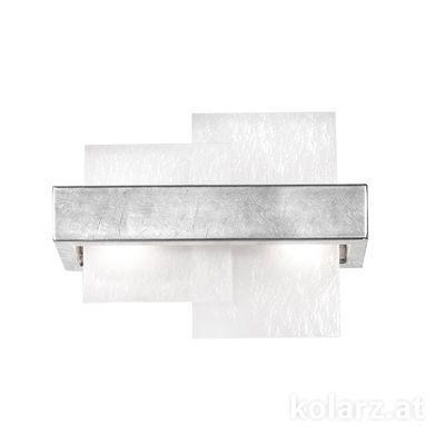 6040.60250/W Silver Leaf, White, Width 32cm, Height 24cm, 2 lights, G9
