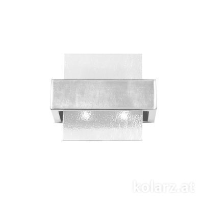 6040.60251/W Silver Leaf, White, Width 21cm, Height 17cm, 2 lights, G9