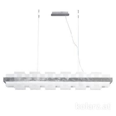 6040.80150/W Silver Leaf, White, Length 155cm, Min. height 29cm, Max. height 262cm, 1 light, LED