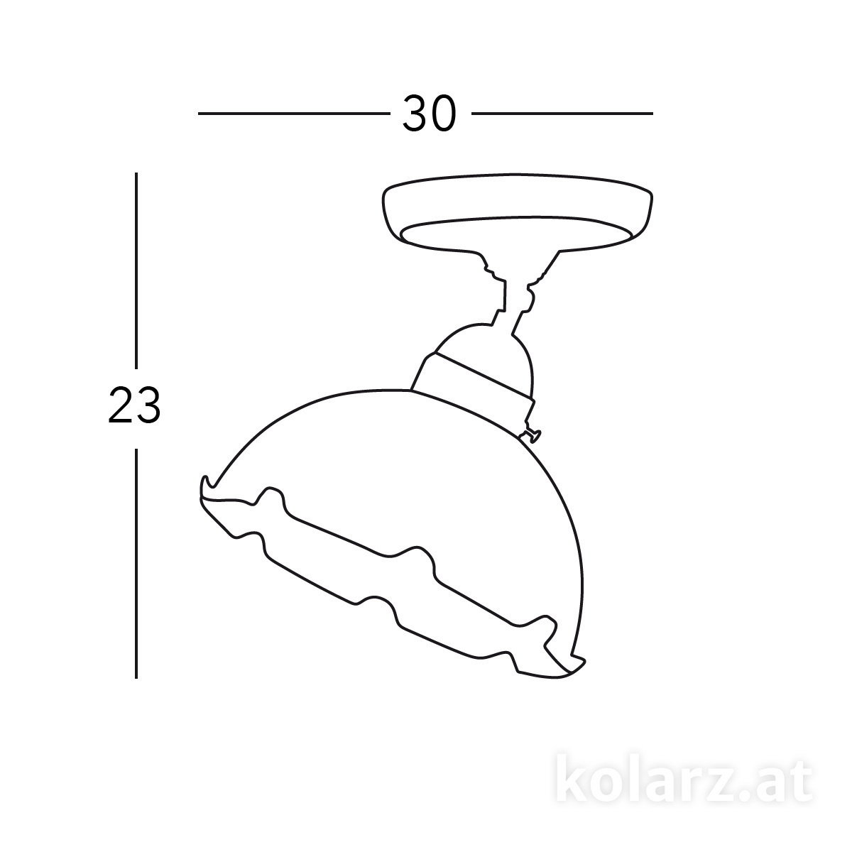 Deckenleuchte NONNA, mundgeblasen, Altmessing, Ø30 Altmessing, Weiß, Ø30cm, Höhe 23cm, 1 flammig, E27