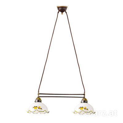 731.82.116 Antique Brass, Length 64cm, Height 21cm, Min. height 31cm, Max. height 100cm, 2 lights, E27
