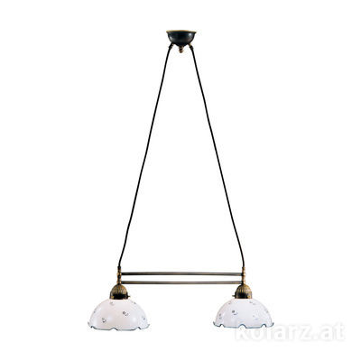 731.82.17 Antique Brass, Length 64cm, Height 21cm, Min. height 31cm, Max. height 100cm, 2 lights, E27