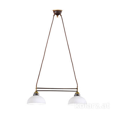 731.82.53 Antique Brass, Length 64cm, Height 21cm, Min. height 31cm, Max. height 100cm, 2 lights, E27