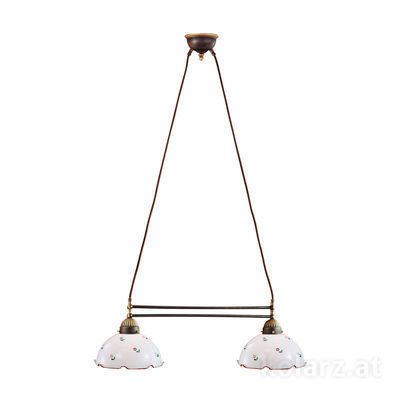 731.82.70 Antique Brass, Length 64cm, Height 21cm, Min. height 31cm, Max. height 100cm, 2 lights, E27