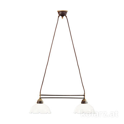 731.82.73 Antique Brass, Length 64cm, Height 21cm, Min. height 31cm, Max. height 100cm, 2 lights, E27