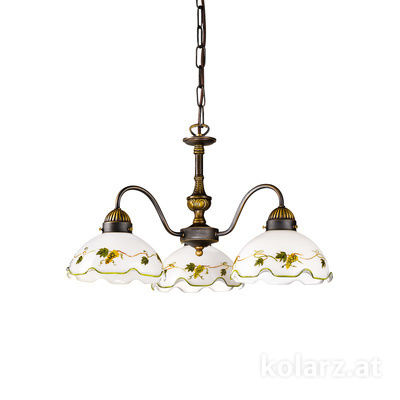 731.83.110 Antique Brass, Ø45cm, Height 30cm, Min. height 40cm, Max. height 95cm, 3 lights, E27