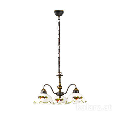 731.83.113 Antique Brass, Ø45cm, Height 30cm, Min. height 40cm, Max. height 95cm, 3 lights, E27