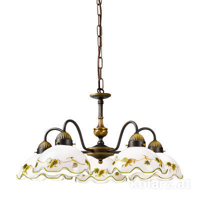 731.85.110 Antique Brass, Ø57cm, Height 35cm, Min. height 45cm, Max. height 100cm, 5 lights, E27