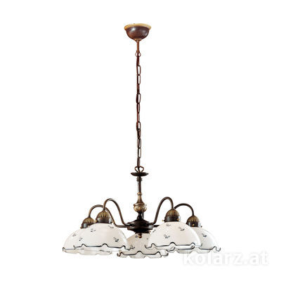 731.85.17 Antique Brass, Ø57cm, Height 35cm, Min. height 45cm, Max. height 100cm, 5 lights, E27