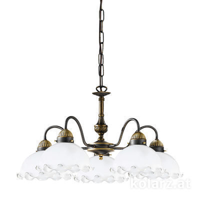 731.85.73 Antique Brass, Ø57cm, Height 35cm, Min. height 45cm, Max. height 100cm, 5 lights, E27