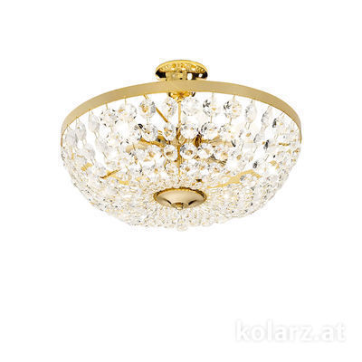 960.16K.3 24 Carat Gold, Ø40cm, Height 25cm, 6 lights, E14