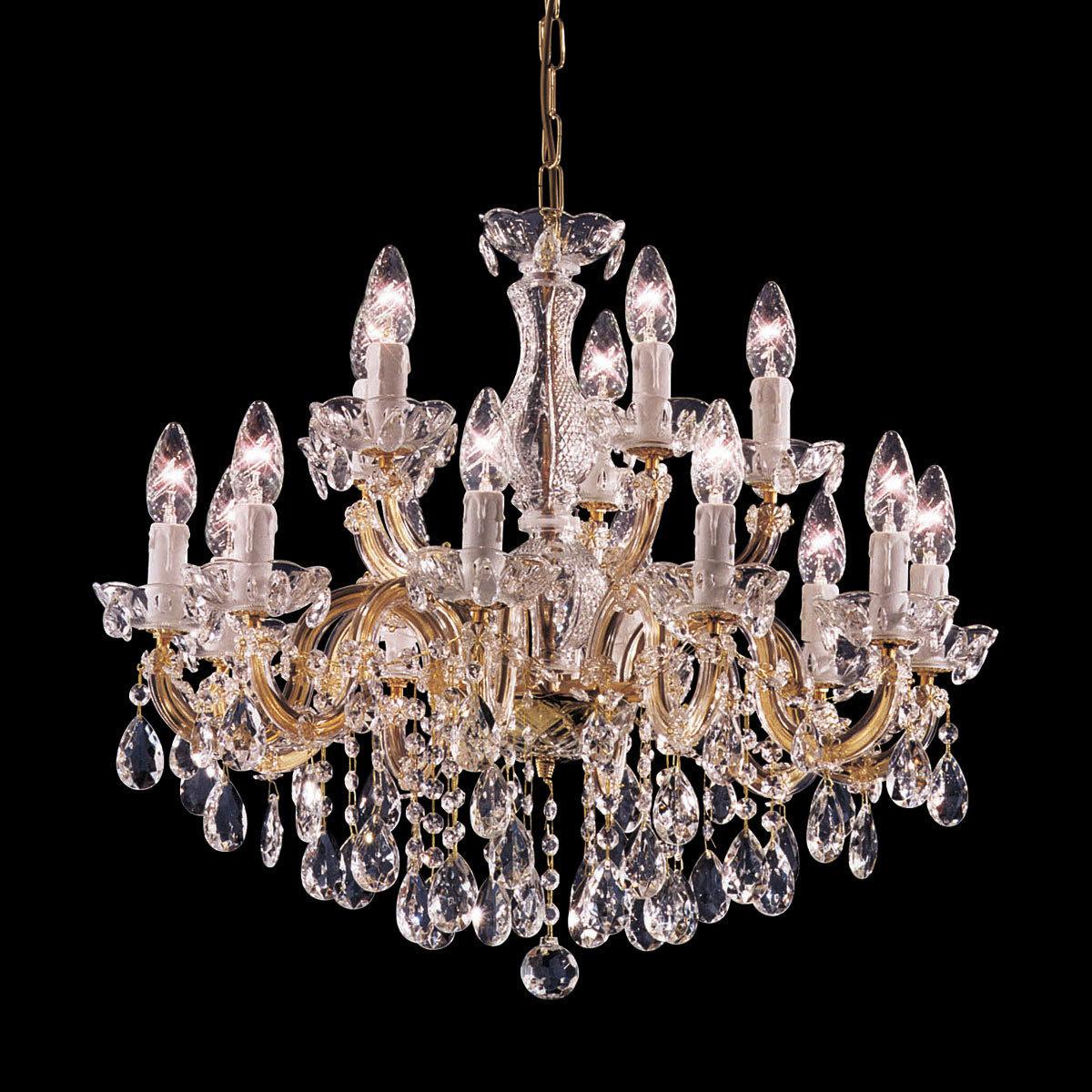 Chandelier Valerie Brass 216 75 15 Lights Brass 216 75cm