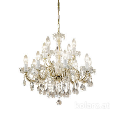 960.88+4 Brass, Ø60cm, Height 52cm, Min. height 72cm, Max. height 117cm, 12 lights, E14