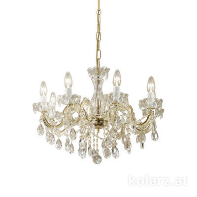 960.88 Brass, Ø60cm, Height 43cm, Min. height 63cm, Max. height 108cm, 8 lights, E14
