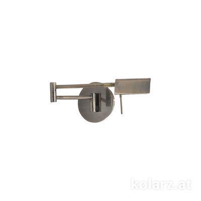 A1301.61.4 Antique Brass, Width 29cm, Height 12cm, 1 light, LED
