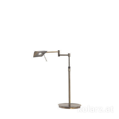 A1301.71.4 Antique Brass, Length 53cm, Min. height 40cm, Max. height 50cm, 1 light, LED
