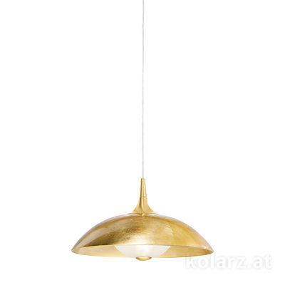 A1304.31.7.Au/45 24 Carat Gold, Gold, Ø45cm, Height 24cm, Min. height 34cm, Max. height 174cm, 1 light, E27