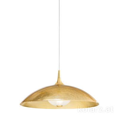 A1304.31.7.Au/60 24 Carat Gold, Gold, Ø60cm, Height 26cm, Min. height 36cm, Max. height 176cm, 1 light, E27