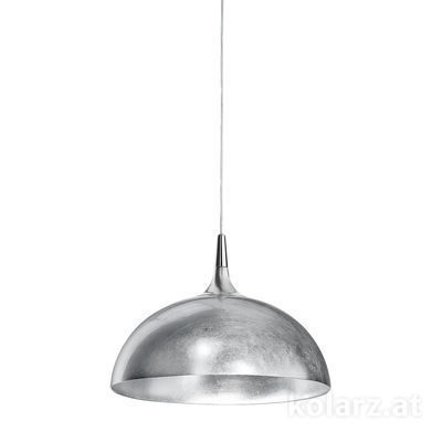 A1305.31.6.Ag/40 Nickel, Silver, Ø40cm, Height 27cm, Min. height 37cm, Max. height 177cm, 1 light, E27