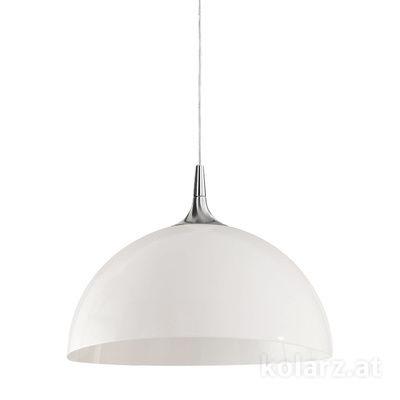 A1305.31.6.W/50 Nickel, White, Ø50cm, Height 35cm, Min. height 45cm, Max. height 185cm, 1 light, E27