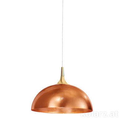 A1305.31.7.Cu/40 24 Carat Gold, Copper, Ø40cm, Height 27cm, Min. height 37cm, Max. height 177cm, 1 light, E27