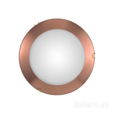 A1306.12.4.Cu Antique Brass, Copper, Ø40cm, Height 9cm, 2 lights, E27