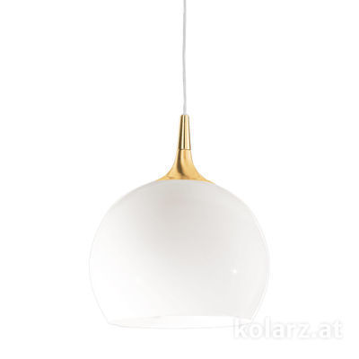 A1306.31.7.W/30 24 Carat Gold, White, Ø30cm, Height 35cm, Min. height 45cm, Max. height 185cm, 1 light, E27