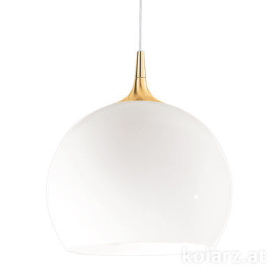 A1306.31.7.W/40 24 Carat Gold, White, Ø40cm, Height 42cm, Min. height 52cm, Max. height 192cm, 1 light, E27