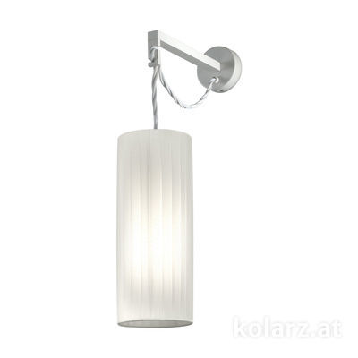 A1307.61.1.W White Matt, Ø12cm, Height 41cm, 1 light, E27