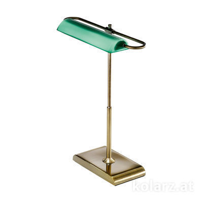 A1317.71.4 Antique Brass, Green, Length 30cm, Width 18cm, Height 40cm, 1 light, LED